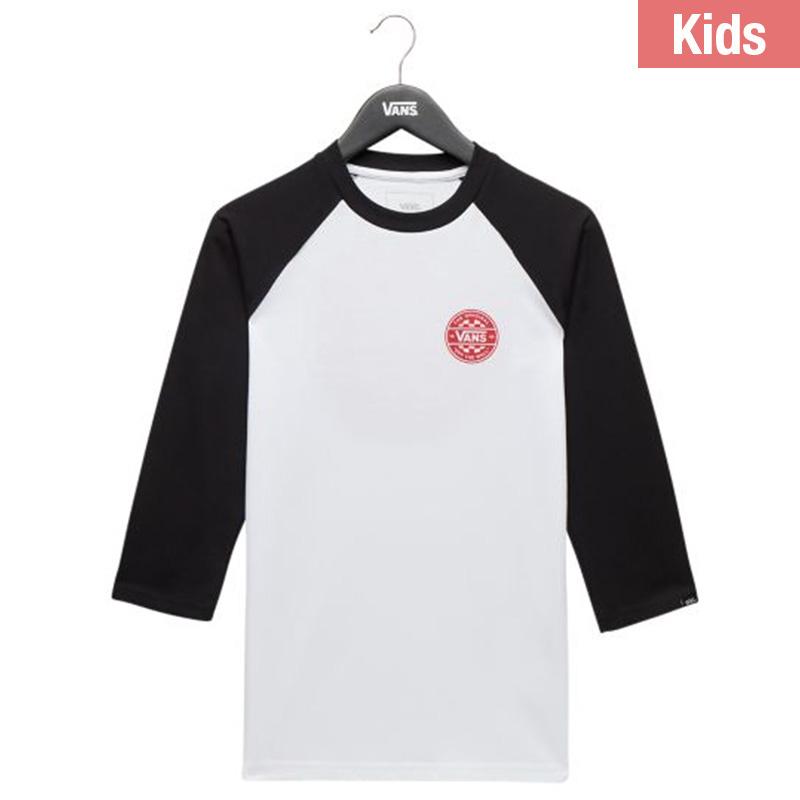 d91982fd Vans Kids By Checker Co. Raglan T-Shirt White/Black. undefined