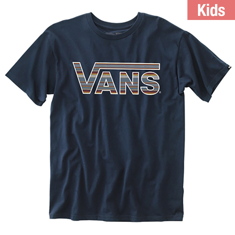 Vans Kids Classic Logo T-Shirt Navy Blue Mirage