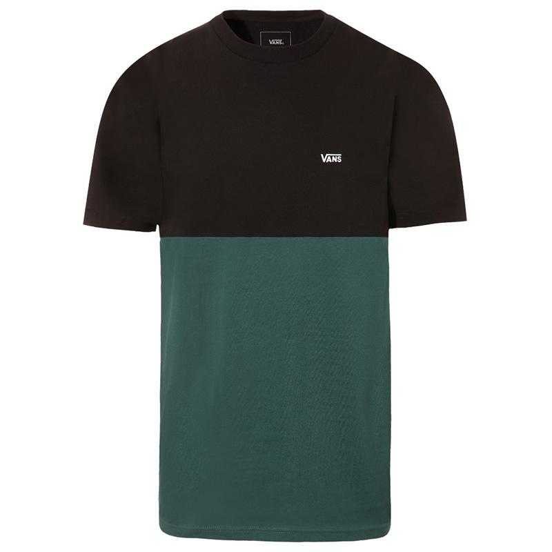 Vans Colorblock T-Shirt Black/Trekking Green