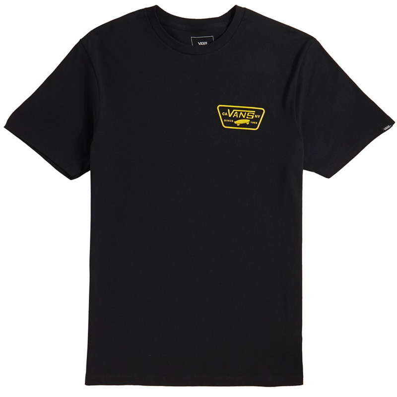 Vans Full Patch Back T-Shirt Black/Sulphur