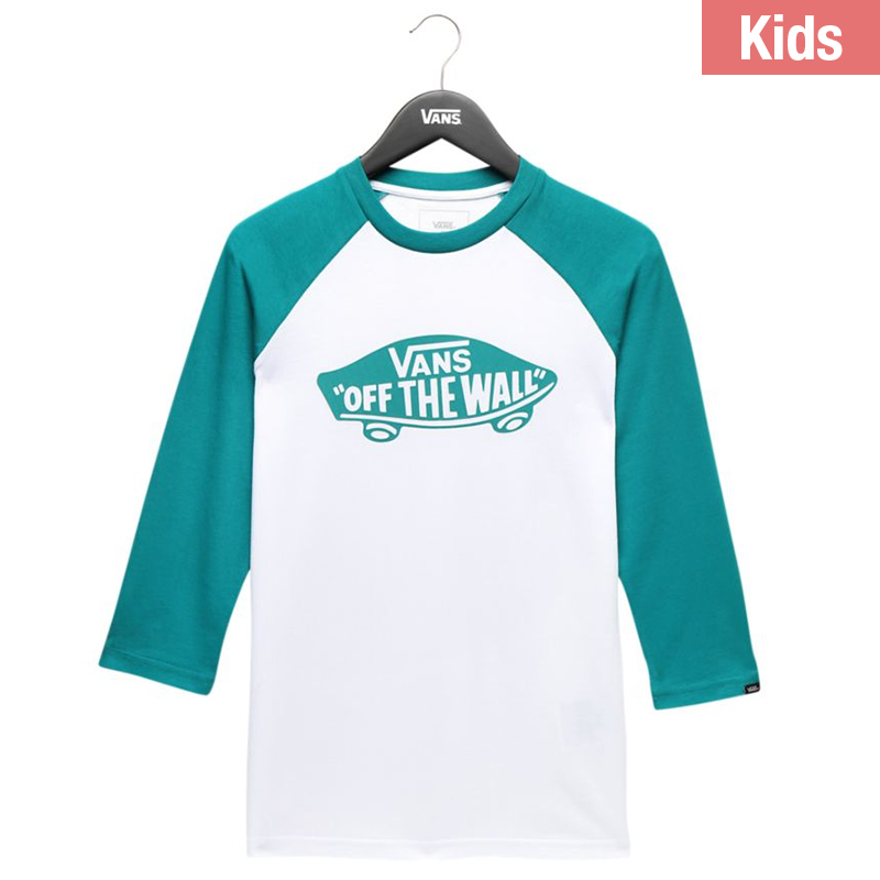 57095de1db Vans Kids By Otw Raglan T-Shirt White/Quetzal