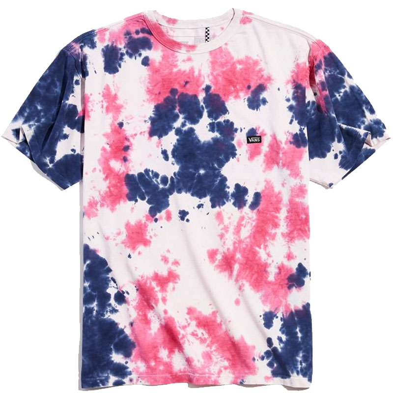 Vans Off The Wall Classic T-Shirt Cool Pink Tie Dye