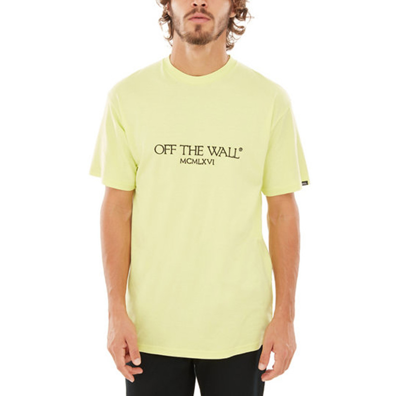 Vans Old Skool Text T-Shirt Sunny Lime