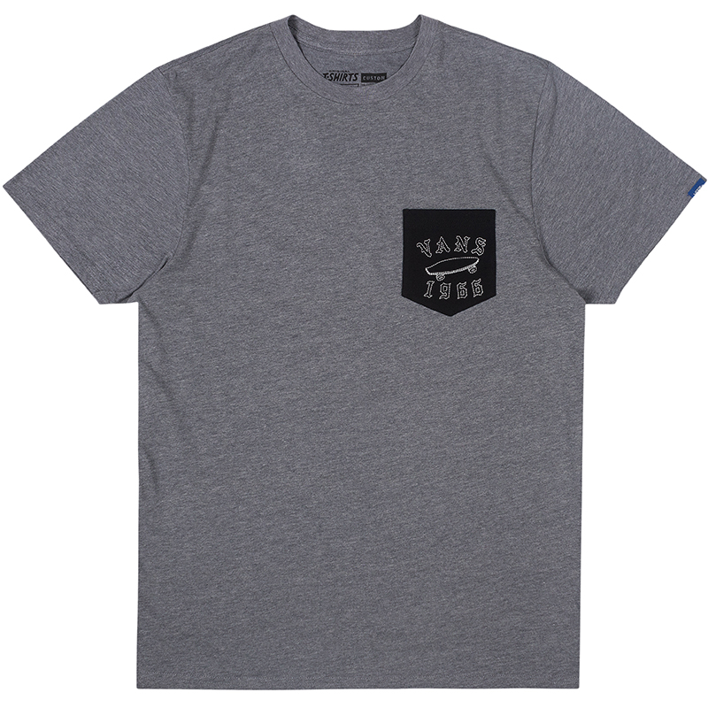 Vans Stitched Pocket T-shirt Heather Grey