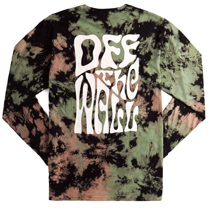Vans Wall Slide Longsleeve T-Shirt Black Tie Dye