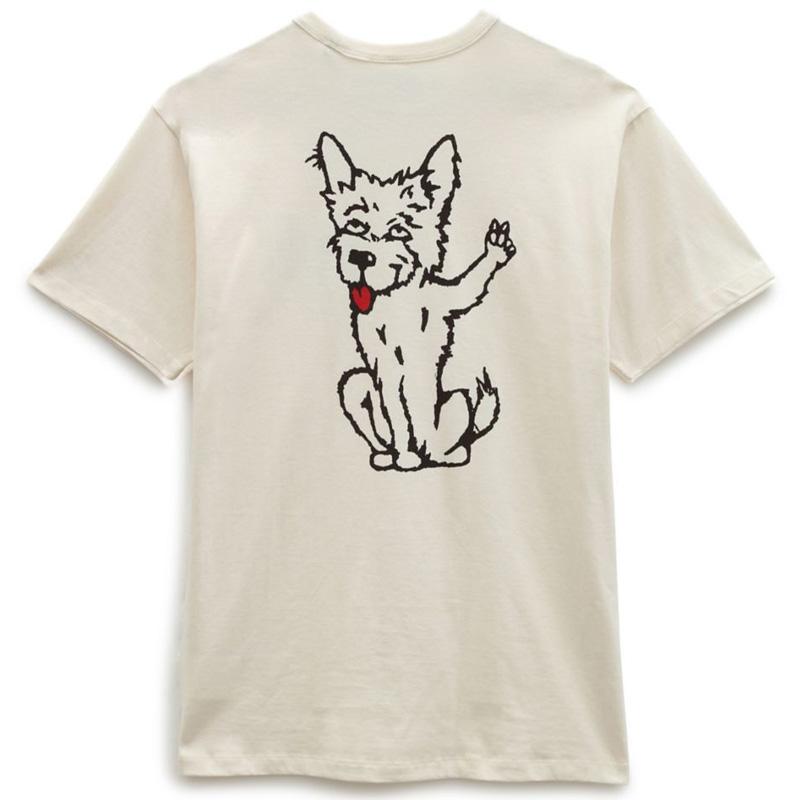 Vans X Tyson P Dog Off The Wall T-Shirt Antique White