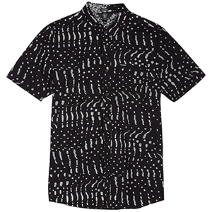 Volcom Drag Dot Shortsleeve Shirt Black