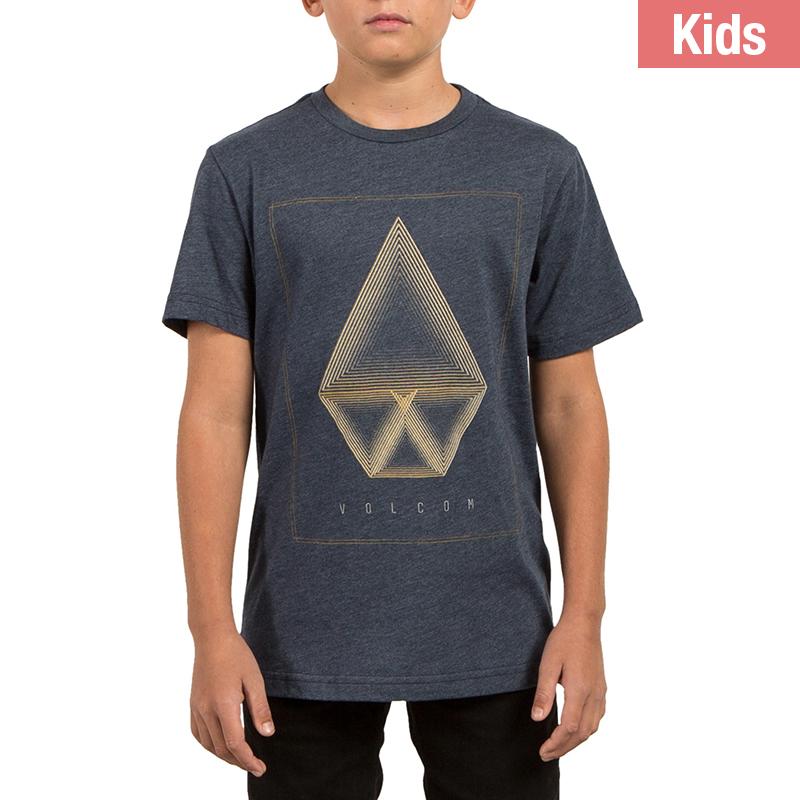 Volcom Kids Concentric Hth T-Shirt Indigo