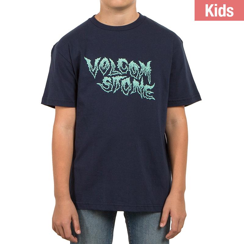 Volcom Kids Crack Lw T-Shirt Indigo