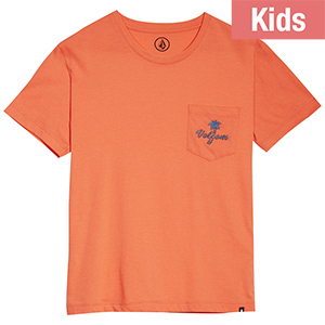 Volcom Kids Last Resort Pocket T-shirt Salmon
