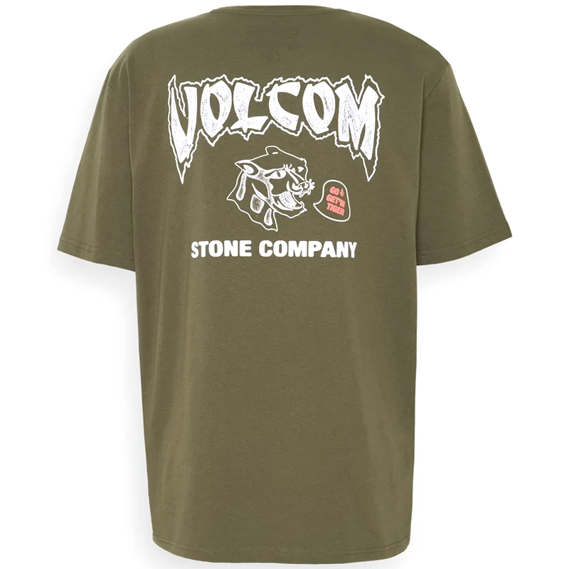 Volcom Kittykat Rlx T-Shirt Military