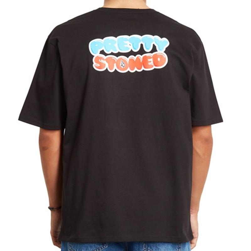 Volcom X Girl Skateboards Pretty Stoned Rlx T-Shirt Black