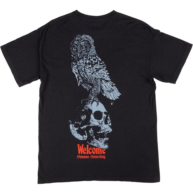 Welcome Bird Brain Garment Dyed T-shirt Black