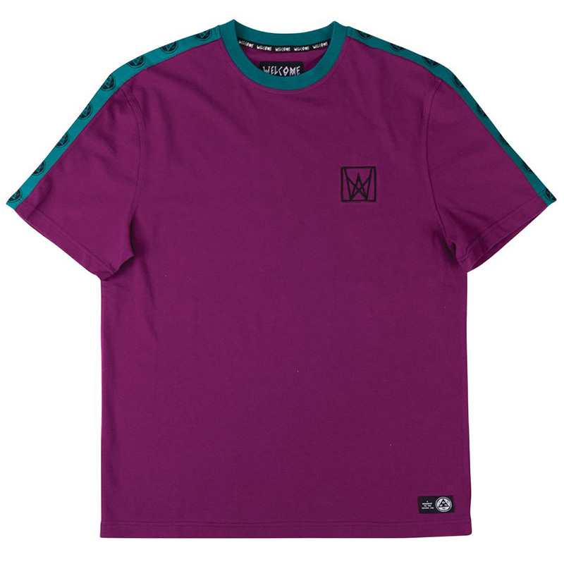 Welcome Chalice Taped T-Shirt Purple/Teal/Black
