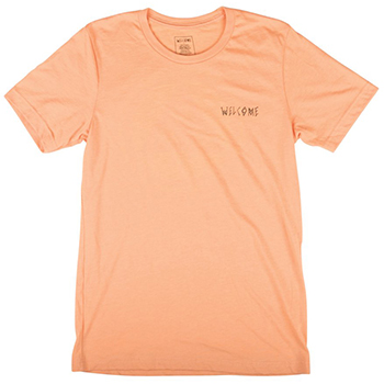 Welcome Talisman Halftone T-Shirt Peach/Black