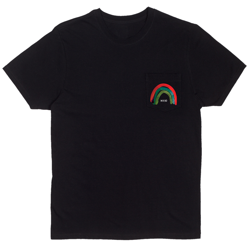 WKND Rainbow Pocket T-Shirt Black