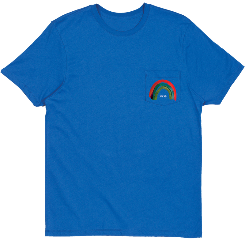 WKND Rainbow Pocket T-Shirt Royal