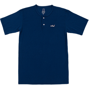 WKND Two Button Henley Navy