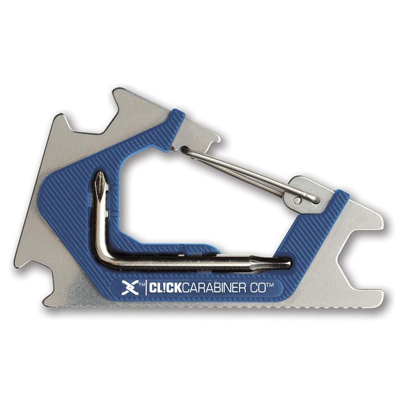 Sk8ology Carabiner 2.0 Skate Tool Silver/Blue