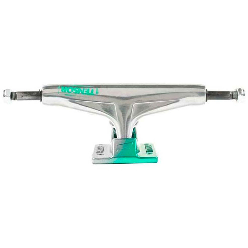 Tensor Alum Stencil Mirror Trucks Raw/Green Fade 5.5 -set of 2-
