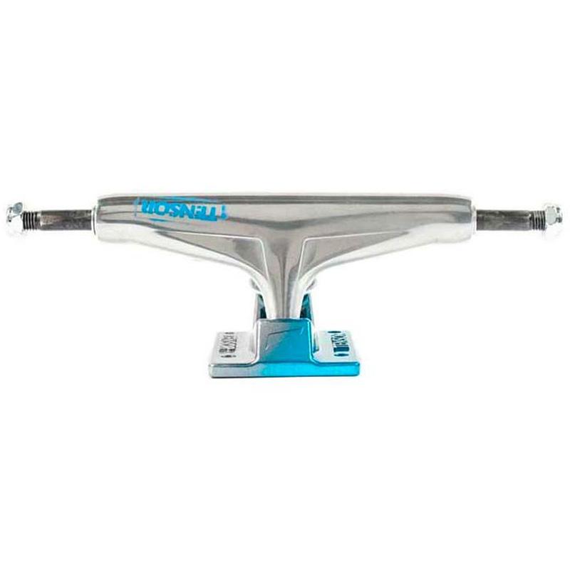 Tensor Alum Stencil Mirror Trucks Raw/Light Blue Fade 5.25 -set of 2-