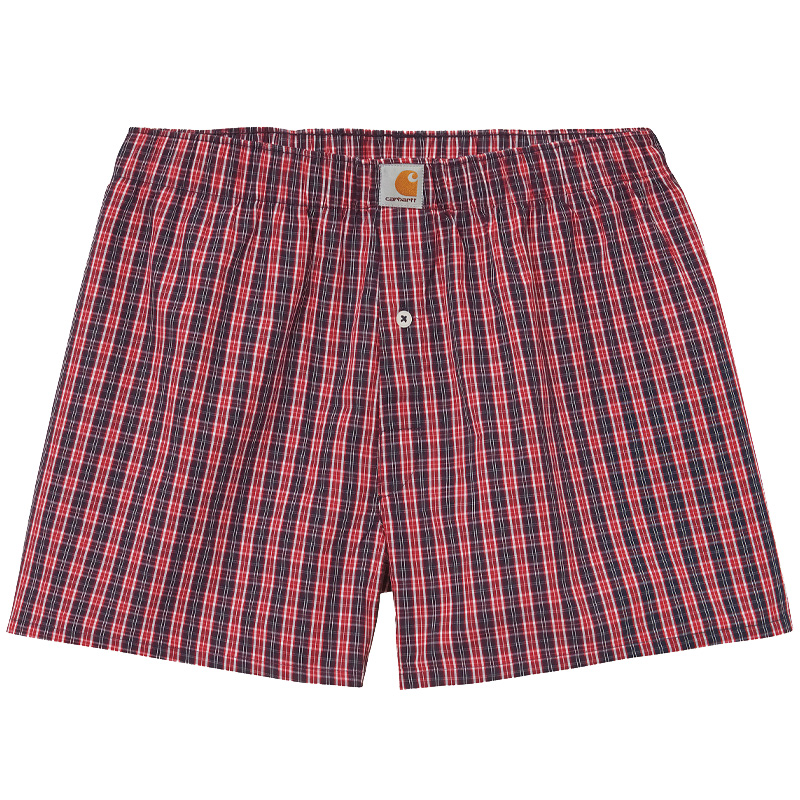 Carhartt WIP Cotton Boxers James Check/Etna Red