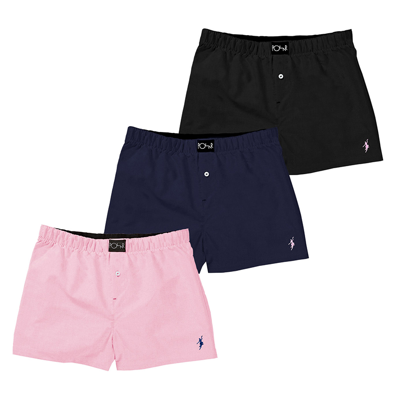 Polar Boxer Shorts (3 Pack) Navy/Pink/Black