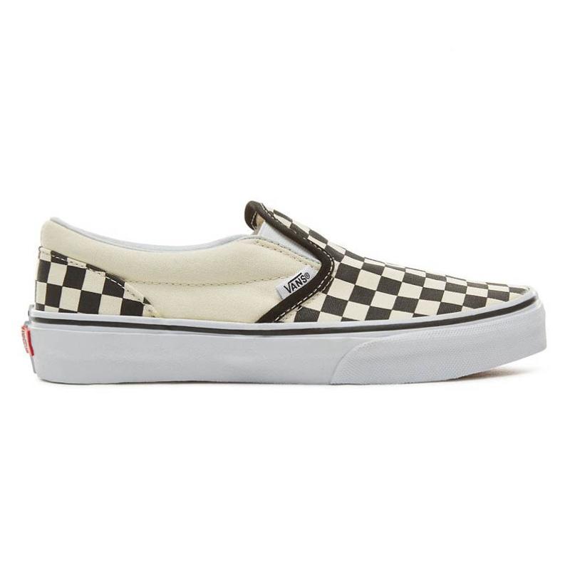 Vans Kids Classic Slip-On Checkerboard Black/Beige/White