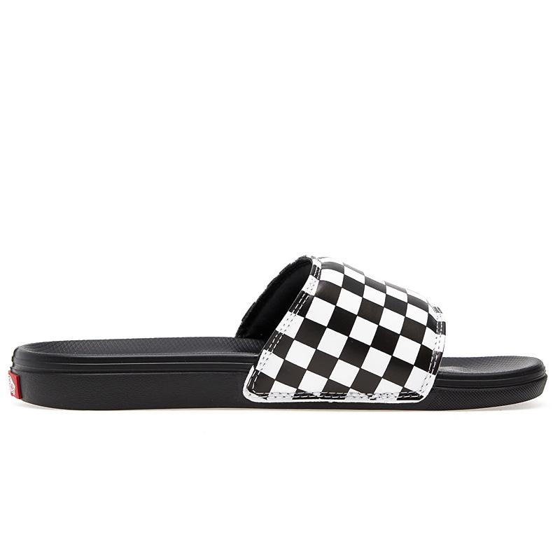 Vans La Costa Slide-On Checkerboard True White/Black