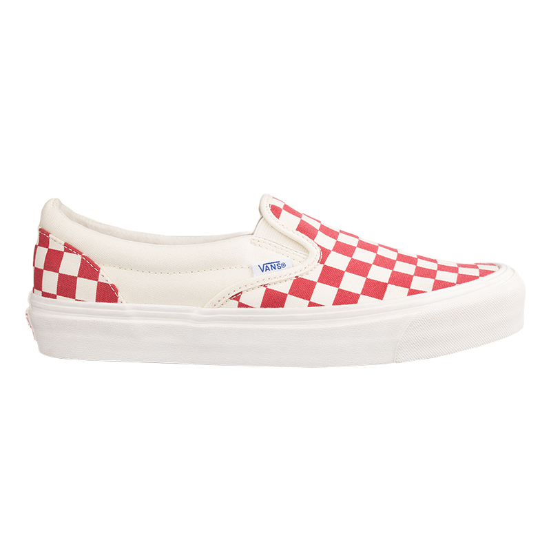 Vans Classic Slip-On Og Checkerboard Racing Red/White