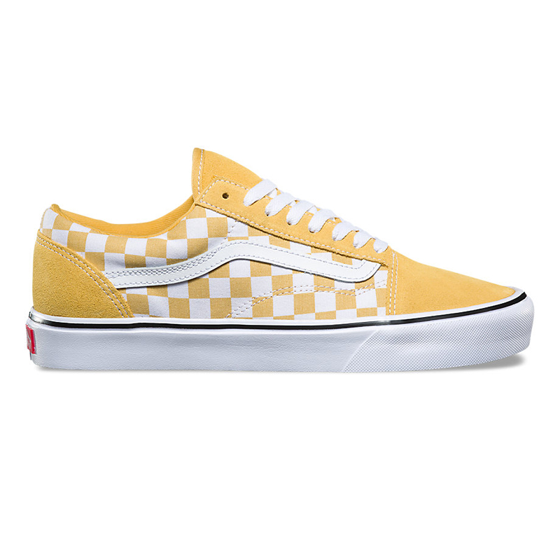 Vans Old Skool Lite Suede Canvas Ochre/True White Checkerboard