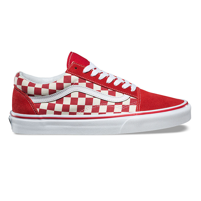 Vans Old Skool Primary Checkerboard Red/White