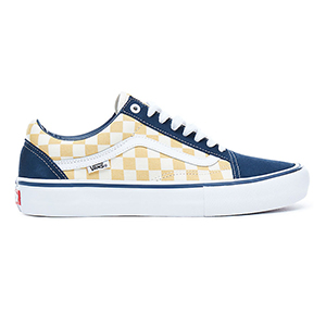 Vans Old Skool Pro Checkerboard Blues/Ochre
