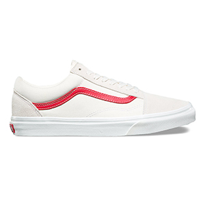 Vans Old Skool Vintage White/Rococco Red