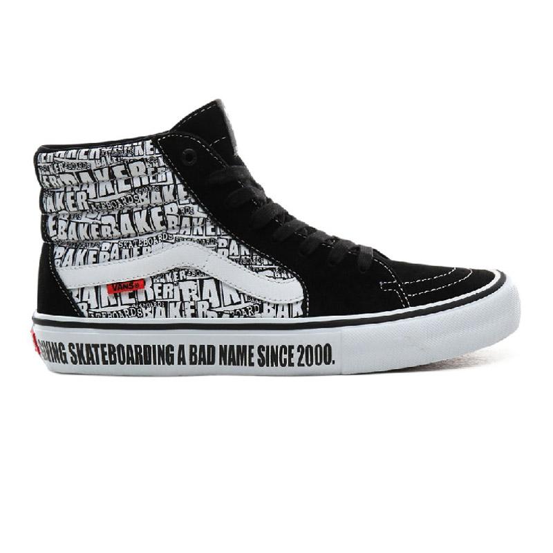 Vans Sk8-Hi Pro Baker Black/White