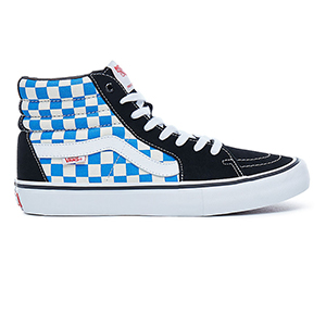 Vans Sk8-Hi Pro Checkerboard Black/Victoria Blue