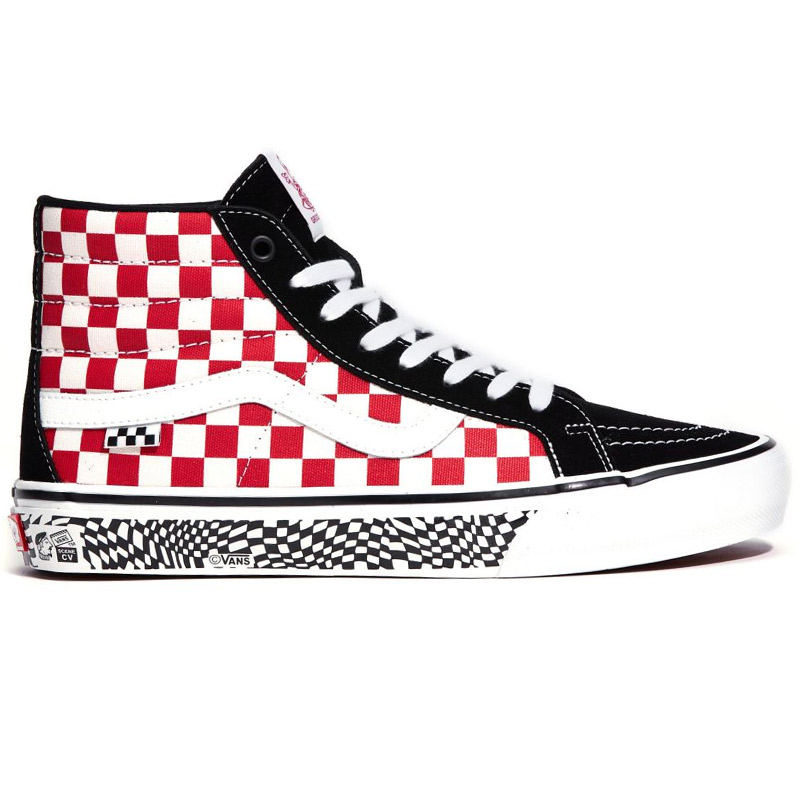 Vans Skate Sk8-Hi Reissue Grosso 84 Black/Red Check