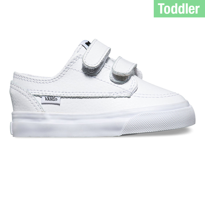 Vans Toddler Brigata V Leather White