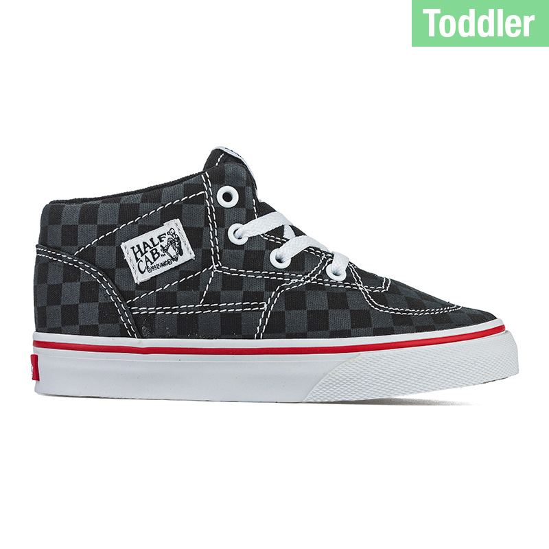 Vans Toddler Half Cab Tonal Check Black