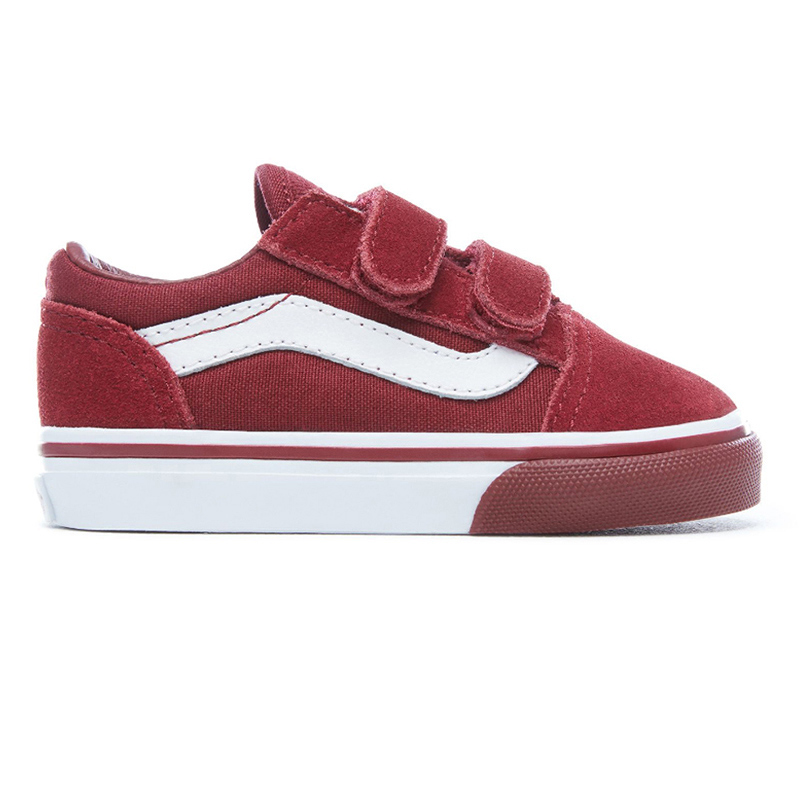 Vans Toddler Old Skool V Mono Bumper Cabernet/True White
