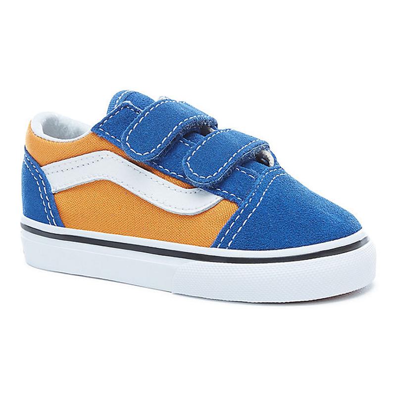 10d5e05fe9 Vans Toddler Old Skool V Pop Og Blue Og Gold. undefined. Loading zoom