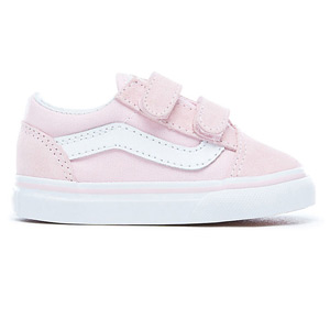 Vans Toddler Old Skool V Suede/Canvas Pink/True White