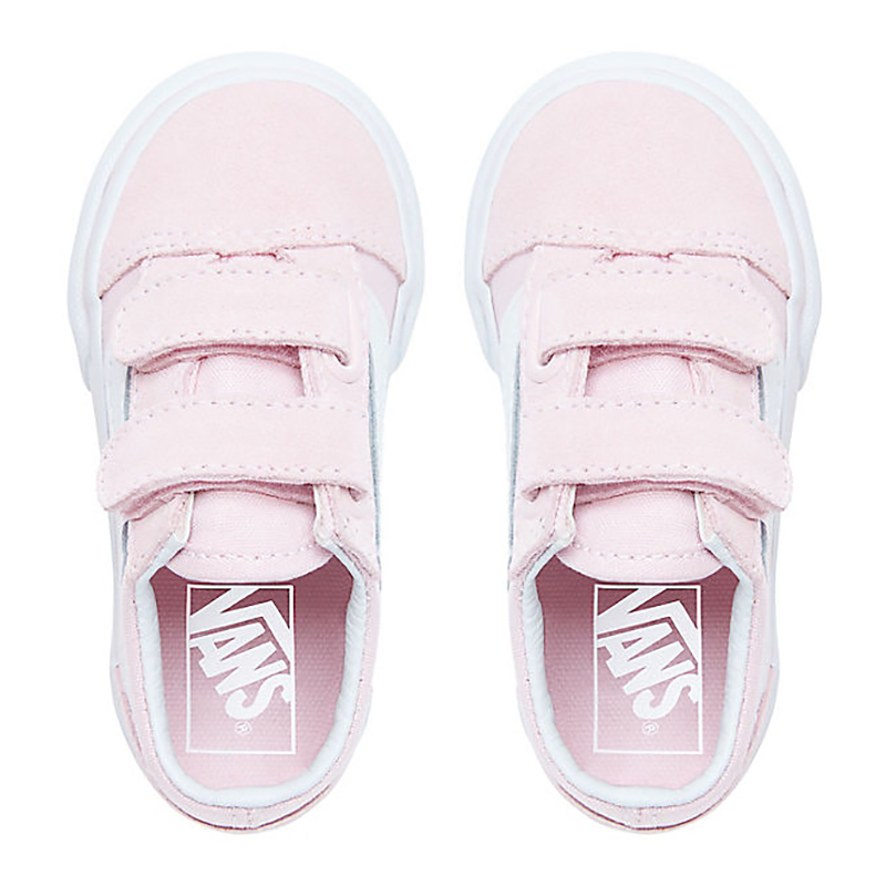 c7d6aba9e8 Vans Toddler Old Skool V Suede Canvas Pink True White. undefined. Loading  zoom