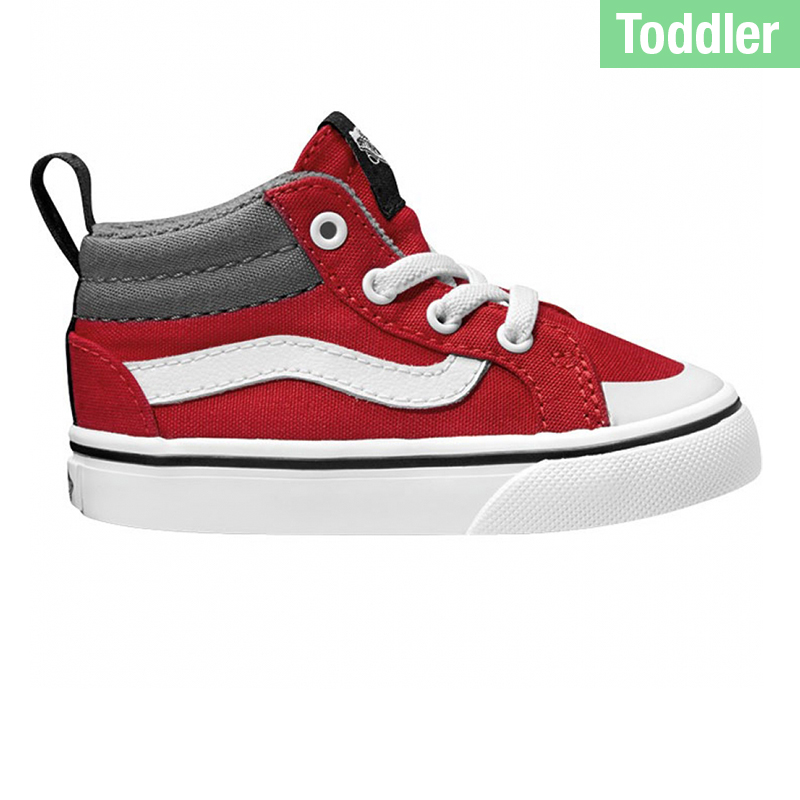 Vans Toddler Racer Mid Canvas Racing Red