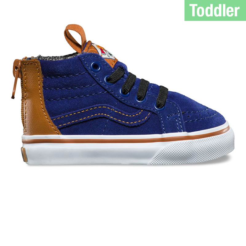 Vans Toddler Sk8-Hi Zip Matte Blue D