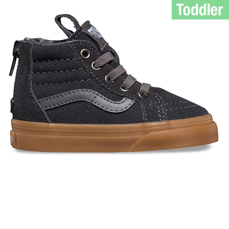 Vans Toddler Sk8-Hi Zip Matte Tornado/Asphalt