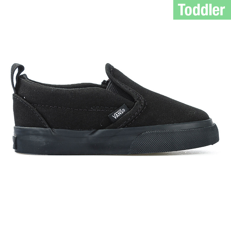 Vans Toddler Slip On V Black/Black