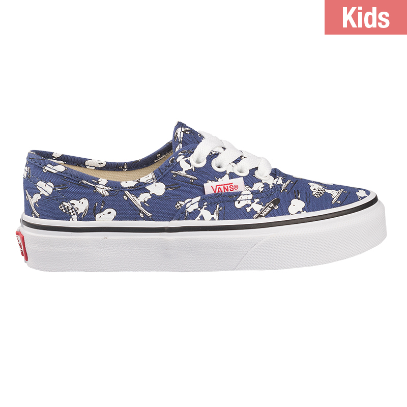 Vans X Peanuts Kids Authentic Snoopy Skating Blue