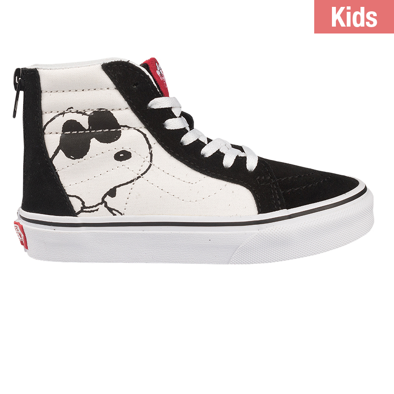 Vans X Peanuts Kids Sk8-Hi Zip Joe Cool Black/White