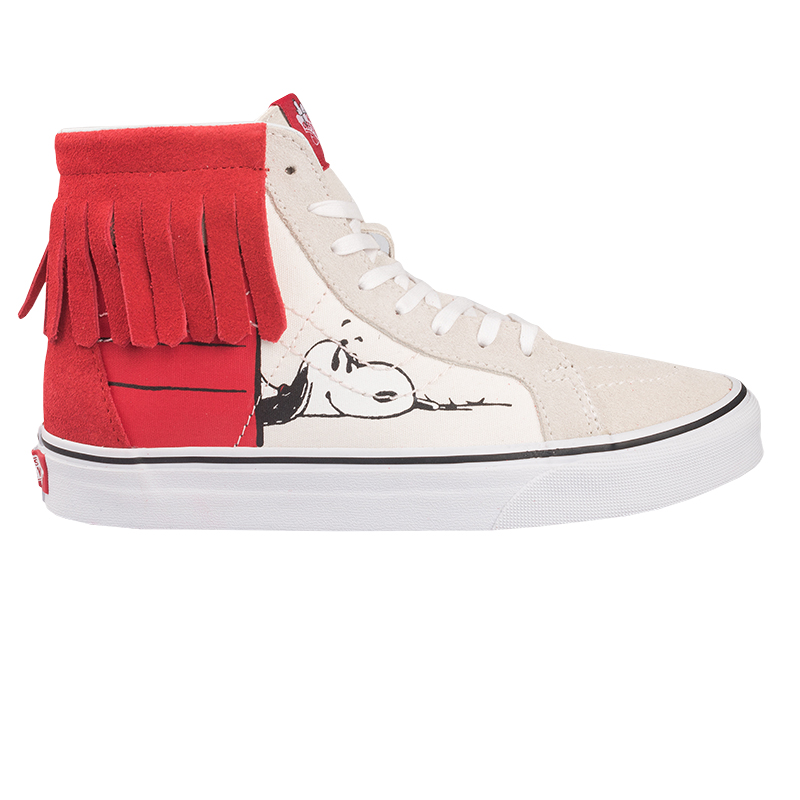 Vans X Peanuts Sk8-Hi Moc Dog House Bone/Red